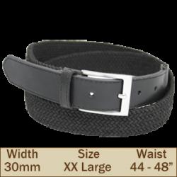 30mm Elasticated Trouser Belt (2XL Black)