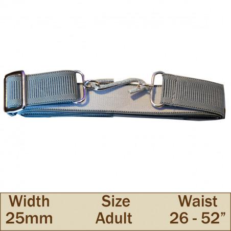 25mm Elasticated Adult Snake Trouser Belt (Grey)