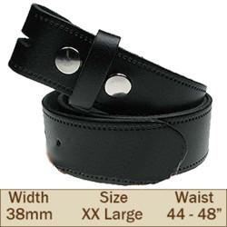 38mm Press Stud Buckleless Trouser Belt (2XL Black)