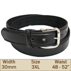 30mm Ossi Trouser Belt (3XL Black )