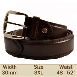 30mm Ossi Trouser Belt (3XL Brown )