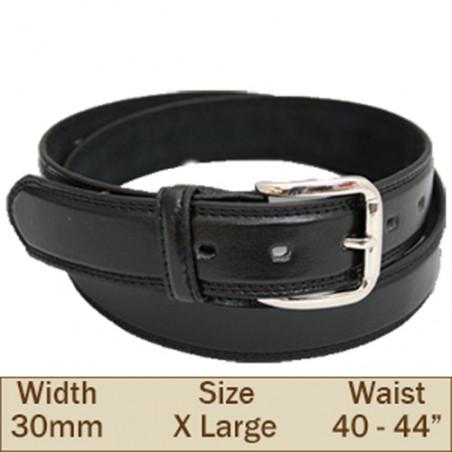 30mm Ossi Trouser Belt ( Extra Large Black )