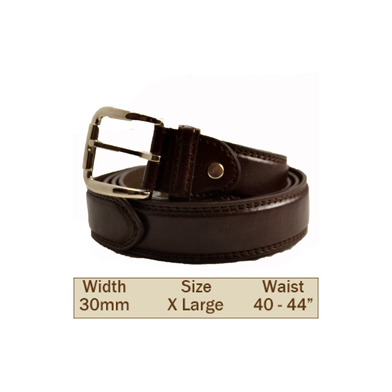 30mm Ossi Trouser Belt ( Extra Large Brown )