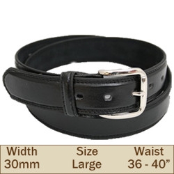 30mm Ossi Trouser Belt ( Large Black )