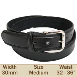 30mm Ossi Trouser Belt ( Medium Black )