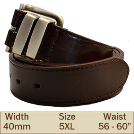 40mm Ossi Trouser Belt (5XL Brown )