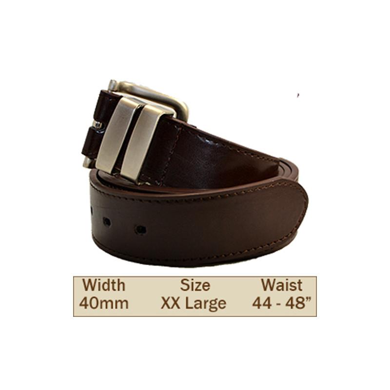 40mm Ossi Trouser Belt (2XL Brown)