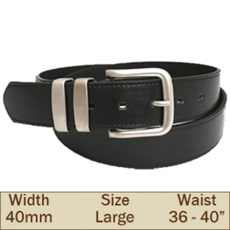 40mm Ossi Trouser Belt (Large Black)
